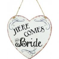 'Here Comes The Bride' Heart Sign